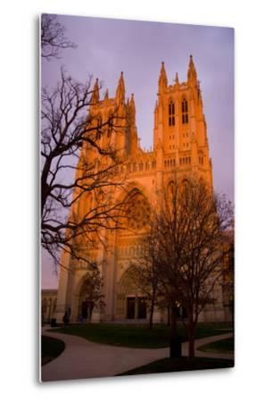 The Last Rays of Sun Warm the Front Towers of the Cathedral