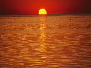 The Sun Sinks into Pamlico Sound by Stephen St. John