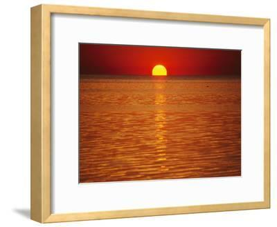 The Sun Sinks into Pamlico Sound