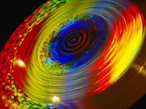 Time Exposure of a Spinning Color Wheel Showing a Spectrum of Hues by Stephen St. John