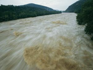 Time Exposure of the Shenandoah River at Dusk by Stephen St. John