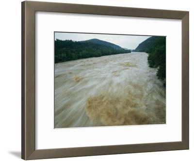 Time Exposure of the Shenandoah River at Dusk