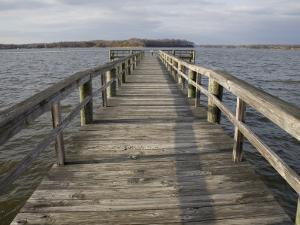Weathered Pier Leads to the Chesapeake Bay by Stephen St^ John
