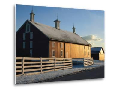 Winter Snowfall Frosts a Barn on the Gettysburg Battlefield