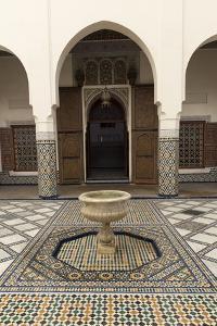 Courtyard, Museum of Marrakech, Medina, Marrakesh, Morocco, North Africa, Africa by Stephen Studd
