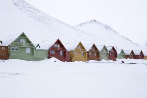 Longyearbyen Houses, Spitsbergen, Svalbard, Arctic Circle, Norway, Scandinavia by Stephen Studd