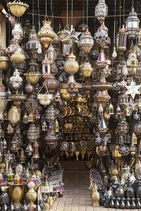 Metal Lanterns in the Old Souk, Old Medina, Marrakesh (Marrakech), Morocco, North Africa by Stephen Studd