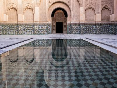 Reflections in the Courtyard Pool