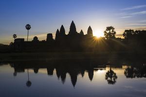 Sunrise, Angkor Wat Temple, Angkor, Siem Reap, Cambodia by Stephen Studd