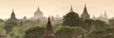 Temples and Stupas at Dawn Sunrise in the Archaeological Site, Bagan (Pagan), Myanmar (Burma)