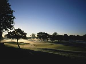 Oakland Hills Country Club, Hole 18, early morning by Stephen Szurlej
