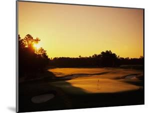 Pinehurst Golf Course No. 2 at sunset by Stephen Szurlej