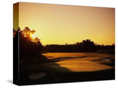 Pinehurst Golf Course No. 2 at sunset