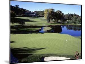 The fourth hole at Baltusrol Golf Club in New Jersey by Stephen Szurlej