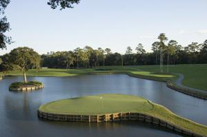 TPC Sawgrass Stadium Course, Island green, Hole 17 by Stephen Szurlej