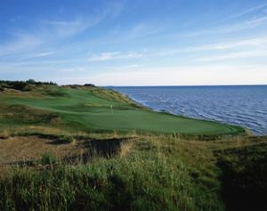 Whistling Straits Golf Club, Hole 4 by Stephen Szurlej