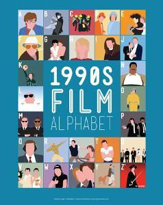 1990s Film Alphabet - A to Z by Stephen Wildish