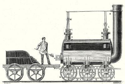 Stephenson's Endless Chain Locomotive--Giclee Print