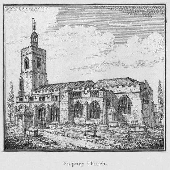 'Stepney Church', c1792-Unknown-Giclee Print