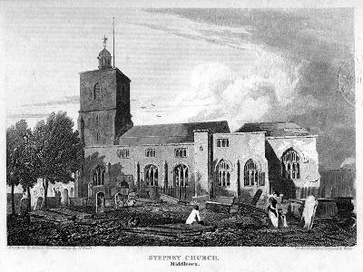 Stepney Church, London, 1815- Hobson-Giclee Print