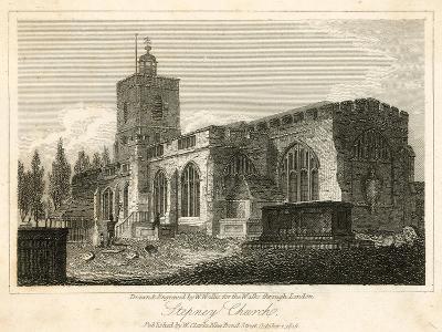 Stepney Church, London-Walter Wallis-Giclee Print