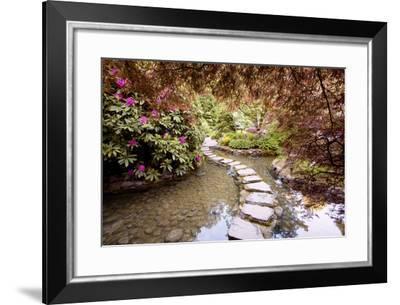 Stepping Stones at Butchart Gardens #2, Victoria, B.C. '09-Monte Nagler-Framed Photographic Print