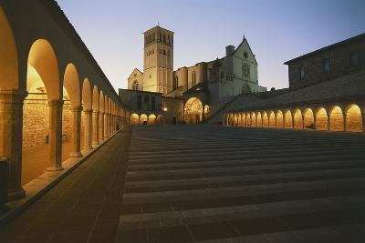 Steps Leading to a Church, Basilica of San Francisco, Assisi, Umbria, Italy--Photographic Print