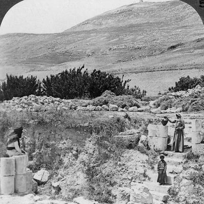 Steps Leading to Jacob's Well, Looking Northwest, Palestine (Israel), 1905-Underwood & Underwood-Photographic Print