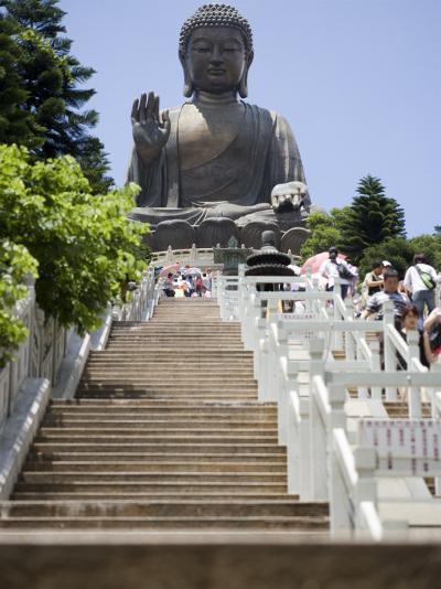 Steps Leading up to Tian Tan Buddha Statue, Hong Kong, China-Greg Elms-Photographic Print