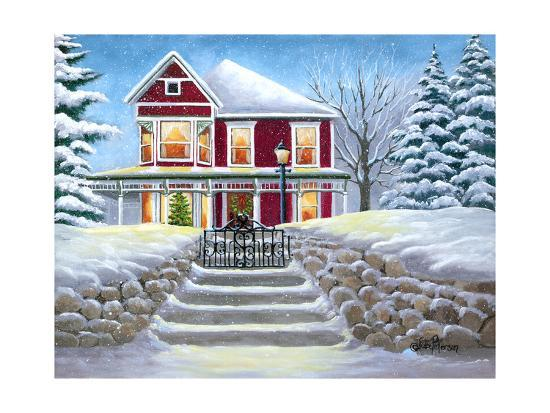 Steps to Christmas-Julie Peterson-Art Print