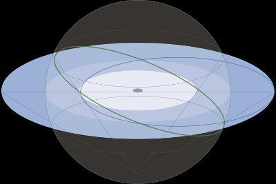 Stereographic Projection of the Ecliptic, Astronomy Diagram--Giclee Print