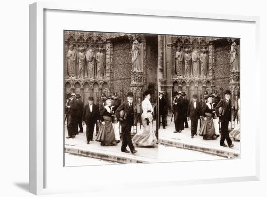 Stereoscopic View of Notre-Dame, Paris, 1890--Framed Photographic Print