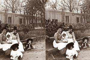 Stereoscopic View of Parc Monceau, Paris, 1890