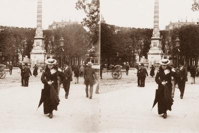 Stereoscopic View of Pont Au Change, Paris, 1890--Photographic Print