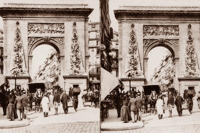 Stereoscopic View of Porte St Denis, Paris, 1890--Photographic Print