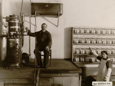 Sterilisation of Baby Bottles at the Goutte De Lait Brestoise, 1910--Photographic Print