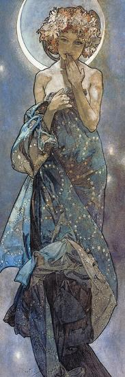 Sterne: Der Mond, 1902-Alphonse Mucha-Giclee Print