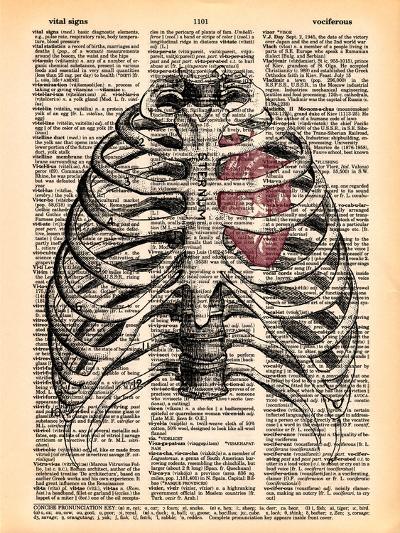Sternum & Heart- Book Dictionary Art-Art Print
