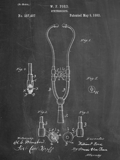 Stethoscope Patent--Art Print