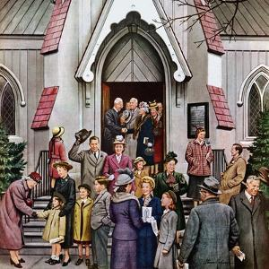 """After Church,"" April 16, 1949 by Stevan Dohanos"