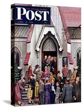 """After Church,"" Saturday Evening Post Cover, April 16, 1949"