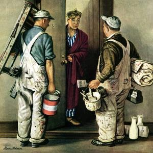 """""""Apartment Painters,"""" May 1, 1948 by Stevan Dohanos"""