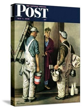 """""""Apartment Painters,"""" Saturday Evening Post Cover, May 1, 1948"""