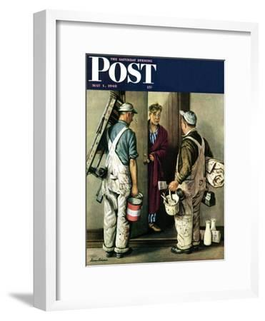 """Apartment Painters,"" Saturday Evening Post Cover, May 1, 1948"