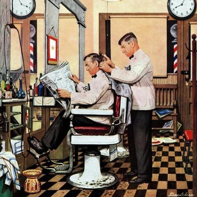 """Barber Getting Haircut,"" January 26, 1946"