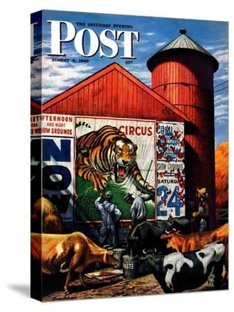"""""""Barnside Circus Poster,"""" Saturday Evening Post Cover, August 4, 1945"""