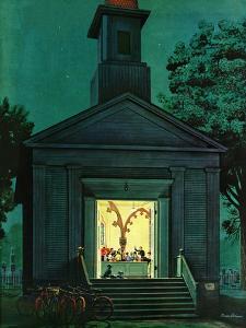 """""""Choir Practice,"""" August 10, 1946 by Stevan Dohanos"""