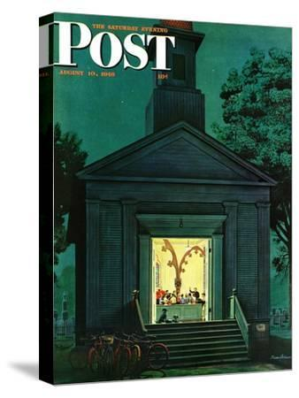 """Choir Practice,"" Saturday Evening Post Cover, August 10, 1946"