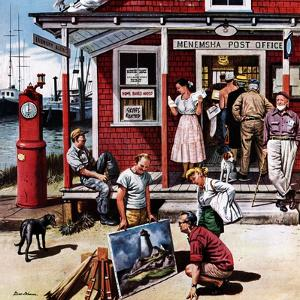 """Coastal Postal Office"", August 26, 1950 by Stevan Dohanos"