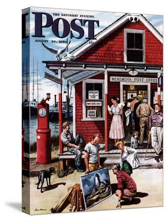 """Coastal Postal Office"" Saturday Evening Post Cover, August 26, 1950"